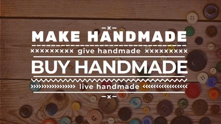 Template di design Handicrafts store with buttons Youtube