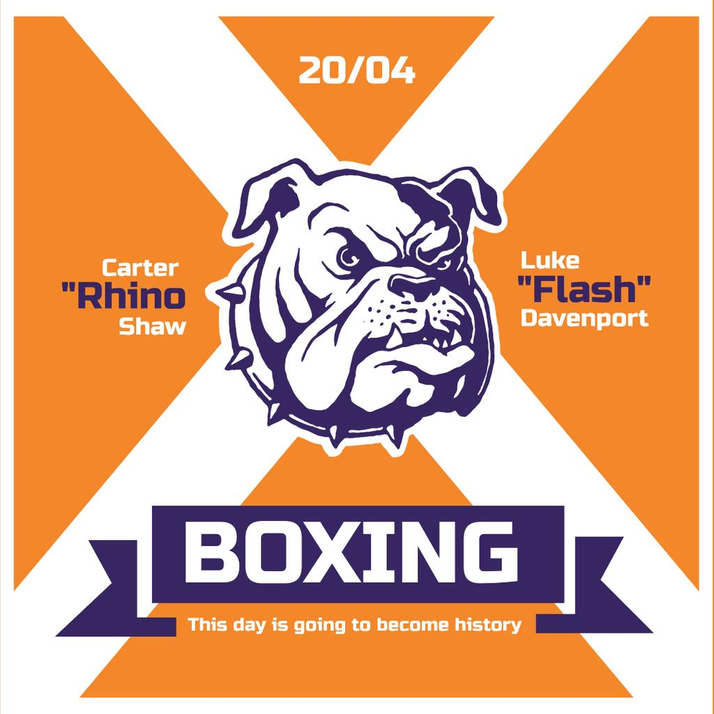 Boxing match Announcement with Angry Dog — ein Design erstellen