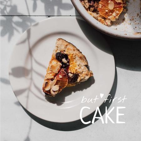 Plantilla de diseño de Sweet Pie with Berries Instagram