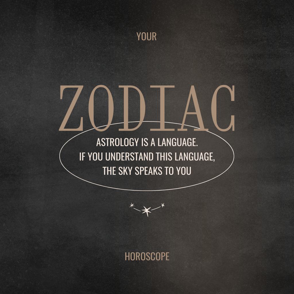 Plantilla de diseño de Zodiac Horoscope with Citation about Astrology Instagram