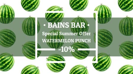 Summer Offer Rotating Raw Watermelons Full HD video Design Template