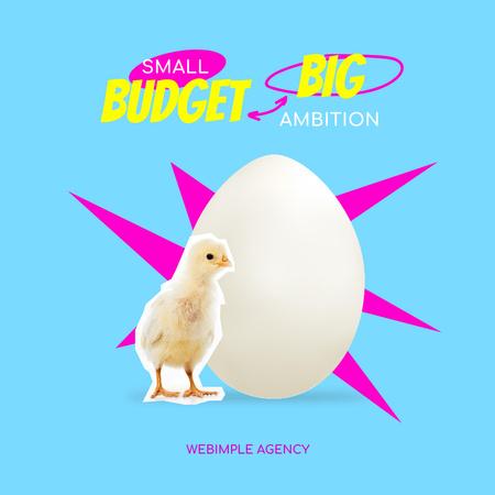 Funny Joke with Little Chick and Egg Instagram Modelo de Design