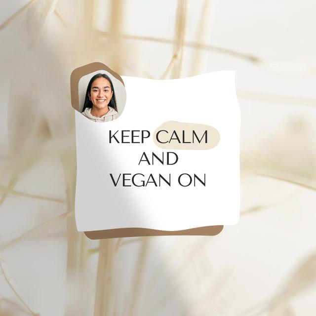 Designvorlage Vegan Lifestyle Concept with Smiling Woman für Instagram