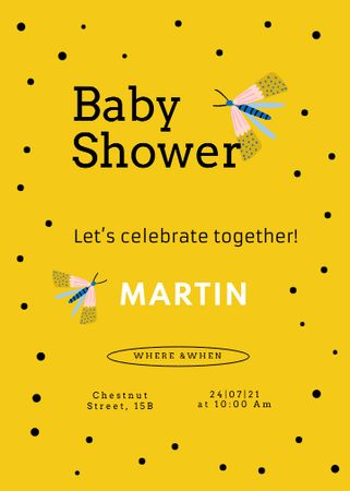 baby Invitation – шаблон для дизайна