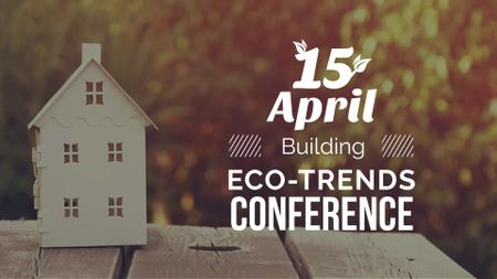 Template di design Building Conference Ad with Toy House FB event cover