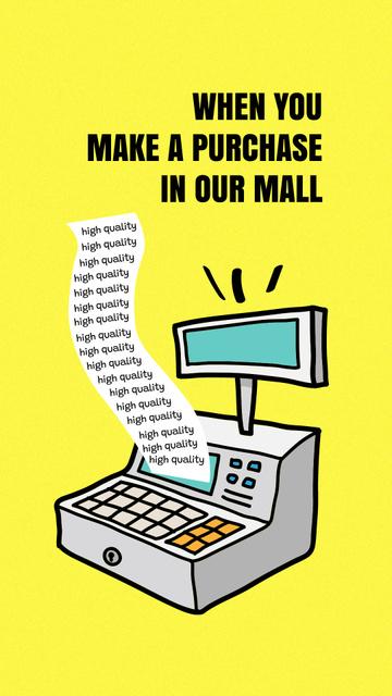Plantilla de diseño de Funny Joke with Cash Machine Illustration Instagram Story