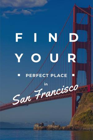San Francisco city Landscape Pinterestデザインテンプレート