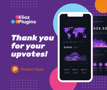 Szablon projektu Product Hunt Campaign Stats on Screen Facebook