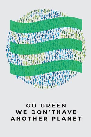 Citation about green planet Pinterest – шаблон для дизайну