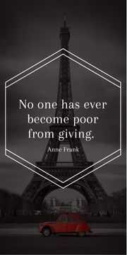 Charity Quote on Eiffel Tower view