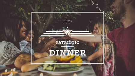 Modèle de visuel Family on USA Independence Day Dinner - FB event cover