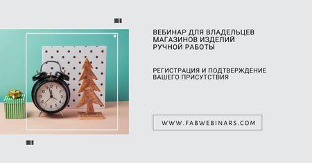 Live webinar for handmade shop owners Facebook AD – шаблон для дизайна
