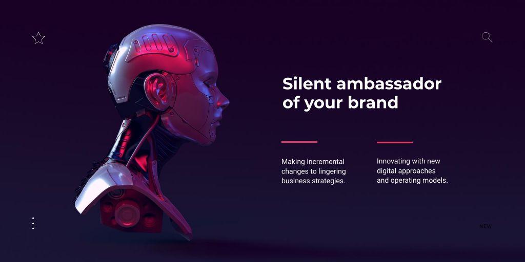 Modèle de visuel Innovation Ad with Modern Robot - Twitter