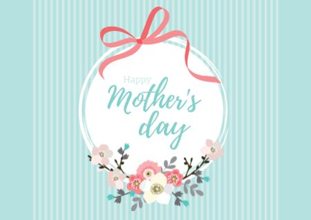 Happy Mother's Day Greeting Card Modelo de Design