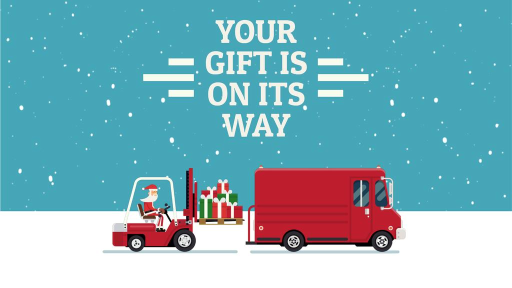 Santa loading gifts in truck — Create a Design