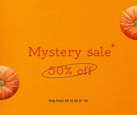 Halloween Discount Sale Offer Facebook Modelo de Design
