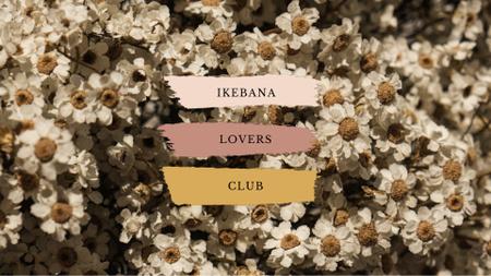 Ikebana Lovers Club Ad with Tender Flowers Full HD video – шаблон для дизайну