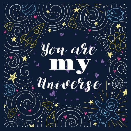 Plantilla de diseño de Love Quote in Stars and Space Frame Instagram