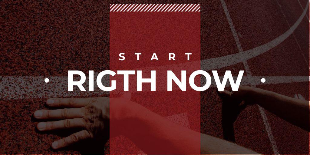 Male runner hands on start line — Créer un visuel