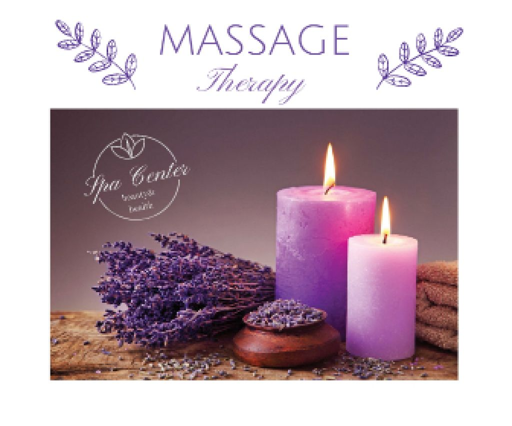 Massage therapy advertisement Large Rectangle Design Template