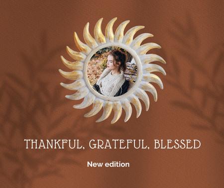 Thanksgiving Holiday Inspiration with Young Woman Facebook Modelo de Design