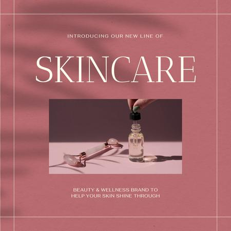 Skincare Ad with Cosmetic Oil Animated Post – шаблон для дизайна