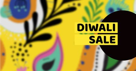 Plantilla de diseño de Diwali Sale Announcement on Bright Pattern Facebook AD