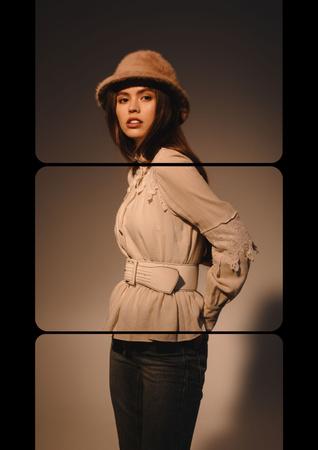 Stylish Girl in Sunglasses Poster Šablona návrhu