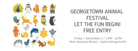 Modèle de visuel Georgetown Animal Festival - Facebook cover