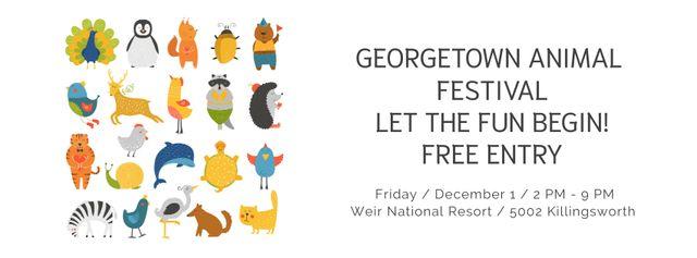 Georgetown Animal Festival Facebook cover – шаблон для дизайна