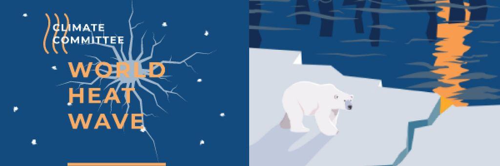 Climate Change with Polar Bear on Ice — Modelo de projeto