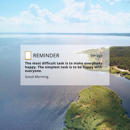 Inspirational Quote with Scenic Island Instagram Πρότυπο σχεδίασης
