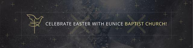 Easter in Baptist Church Twitter Modelo de Design