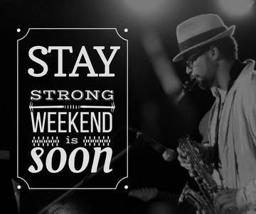 Jazz Musician playing Saxophone on Weekend
