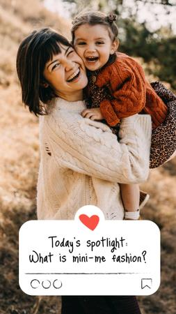 Family Day with Cute Mother and Daughter Instagram Story tervezősablon