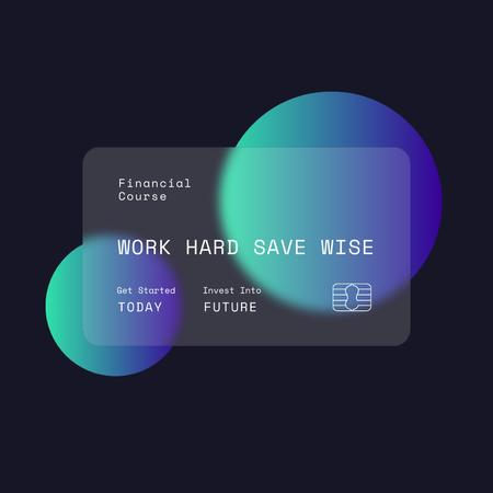 Financial Course promotion with Credit Card Instagram Design Template