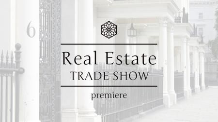 Real Estate Tradeshow Ad with Luxury Facade FB event coverデザインテンプレート