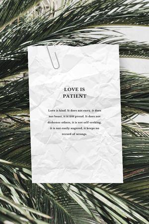 Love Quote on palm Leaves Tumblr tervezősablon