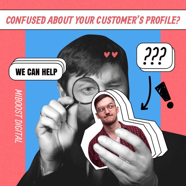 Funny Joke about Customer's Profile Instagram tervezősablon