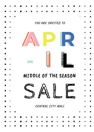 Spring Sale Bright Announcement Invitation – шаблон для дизайну