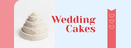 Ontwerpsjabloon van Facebook cover van Wedding Cakes Sale Offer