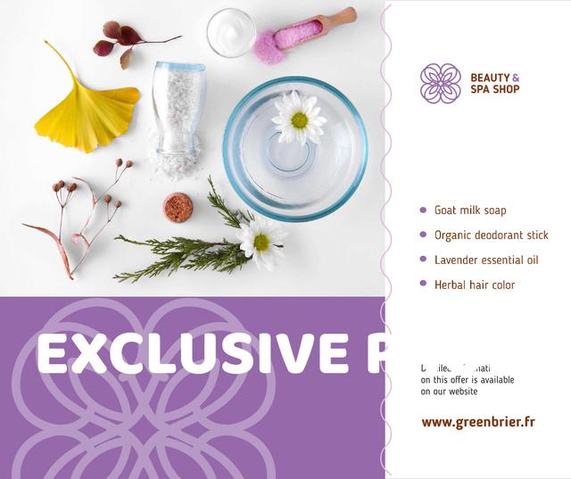 Ontwerpsjabloon van Facebook van Beauty Shop Offer Natural Skincare Products