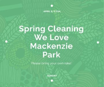 Spring cleaning in Mackenzie park
