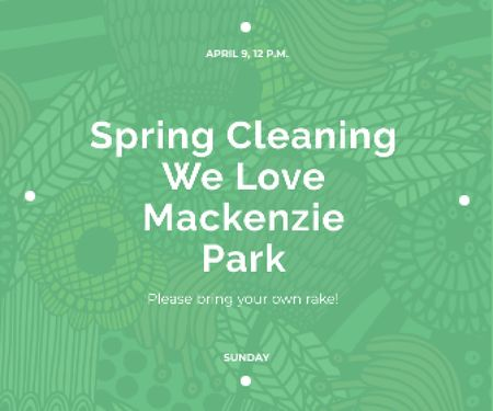 Spring cleaning in Mackenzie park Large Rectangle Design Template