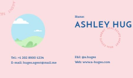 Plantilla de diseño de Real Estate Agent contacts Business card