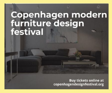 Template di design Copenhagen modern furniture design festival Medium Rectangle