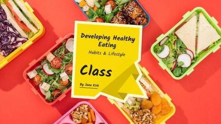 Nutrition Masterclass  with Healthy Food FB event cover Modelo de Design