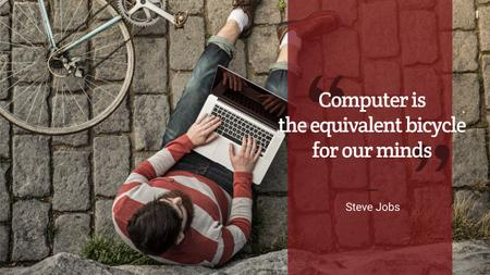 Plantilla de diseño de Motivational quote with young man using laptop Youtube