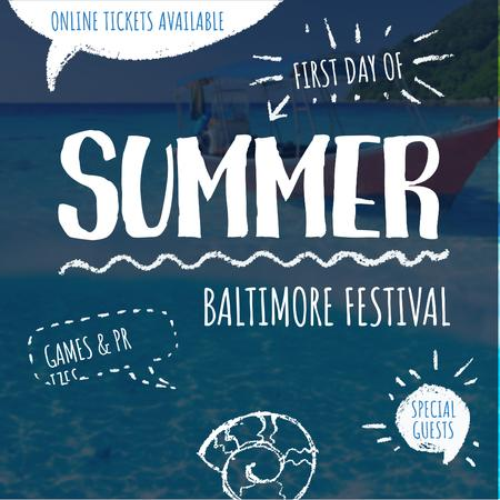 Summer Baltimore Festival invitation Instagram AD – шаблон для дизайну