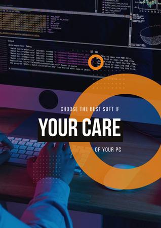Modèle de visuel Computer Software concept - Poster